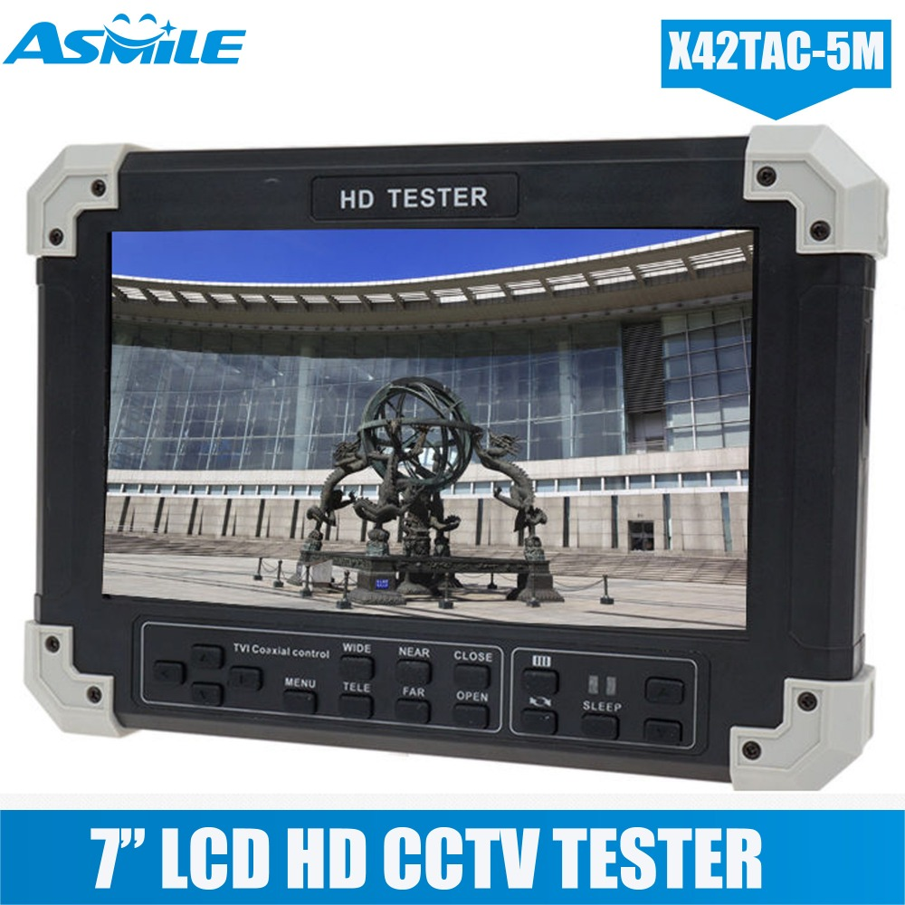 X42TA 5M 7 Display 5in1 HD TVI AHD HDMI VGA CVBS Camera Video Monitor Tester