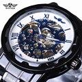 Top Brand Luxury Automatic Watch Clock Winner Blue Ocean Fashion Casual Designer Stainless Steel Men Skeleton Watch Mens Watches