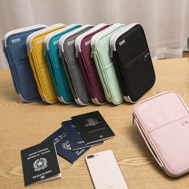 Multi-Function Travel Passport Card Wallet Holder Women Men Credit Cards Mobile Phone ID Document Storage Package Accessories