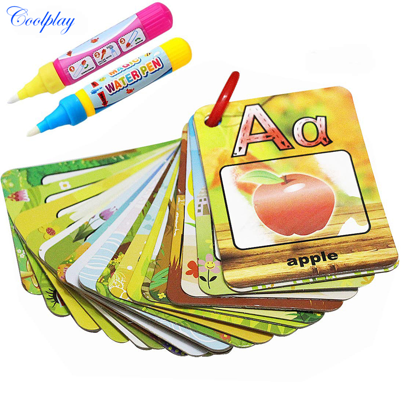 Books Able Hot Selling 2 Books Childrens English Alphabet Groove Hard Pen The Copybook Fonts Auto Fades Can Be Reused Words Letters Board