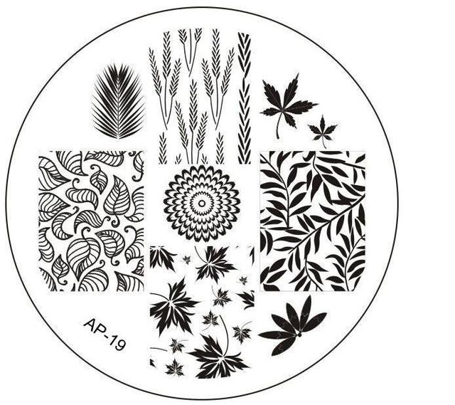AP-19 Fashion DIY Polish Beauty Nail Art Image Stamp Stamping Plates 3D Nail Art Templates Stencils Manicure Tools