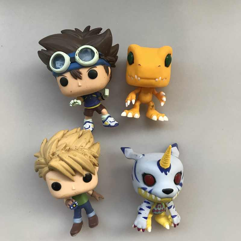 Funko pop Original Secondhand Amina: Digimon-Tai Kamiya, Matt Ishida, gabumon Vinyl Action Figure Collectible Modelo Toy Solto