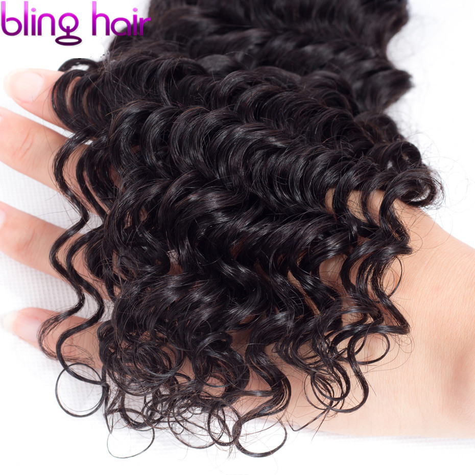 Image 5 - Bling Hair Remy Brazilian Hair Weave Bundles Deep Wave Bundles 100% Human Hair Extension 8 30 Inch Natural Color 1/5/10 Piece-in Hair Weaves from Hair Extensions & Wigs