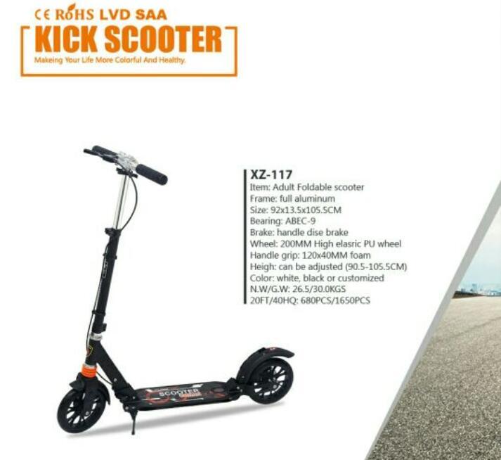 Prix pour Pliage en alliage d'aluminium pied scooters portable absorption des chocs kick scooter à pied scooter avec frein