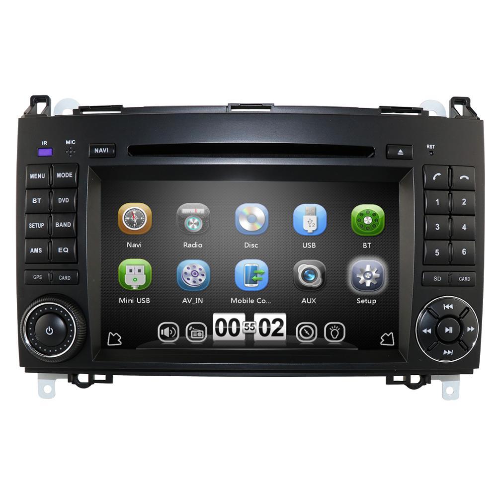 Lecteur multimédia de voiture GPS 2 Din DVD Automotivo pour Mercedes/Benz/Sprinter/B200/classe B/W245/B170/W169 Radio Cam-in USB RDS SD BT
