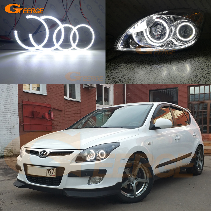 For Hyundai i30 2007 2008 2009 2010 2011 Hatchback Wagon Headlight Excellent Ultra bright illumination smd led Angel Eyes kit hyundai accent hatchback ii бу москва