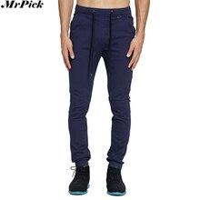 Новинка, Мужские штаны для бега, модные повседневные штаны с заниженным шаговым швом в стиле хип-хоп, эластичные штаны-шаровары с эластичной резинкой на талии, обтягивающие штаны