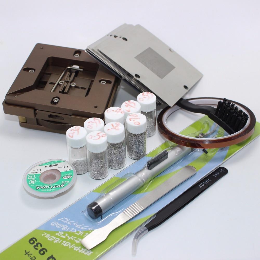 BGA Reballing Station BGA Reball Kit Magnetism Lock BGA Fixture 90mm x 90mm \ 80mm x 80mm Aluminium alloy 90mm frame kit