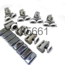 Набор из 8 душевых дверных роликов/колес/бегунов/шкивов диаметром 25 мм колеса