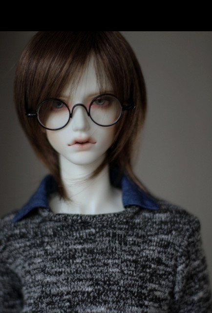 Vintage Harry Potter Black Oval Glasses For BJD 1/3 SD17 Uncle Doll Accessories GS3