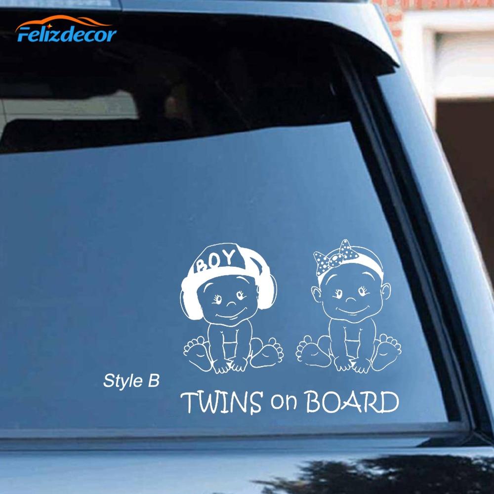 got twins Children Kids Baby Babies Funny Decal Sticker Car Cute Vinyl