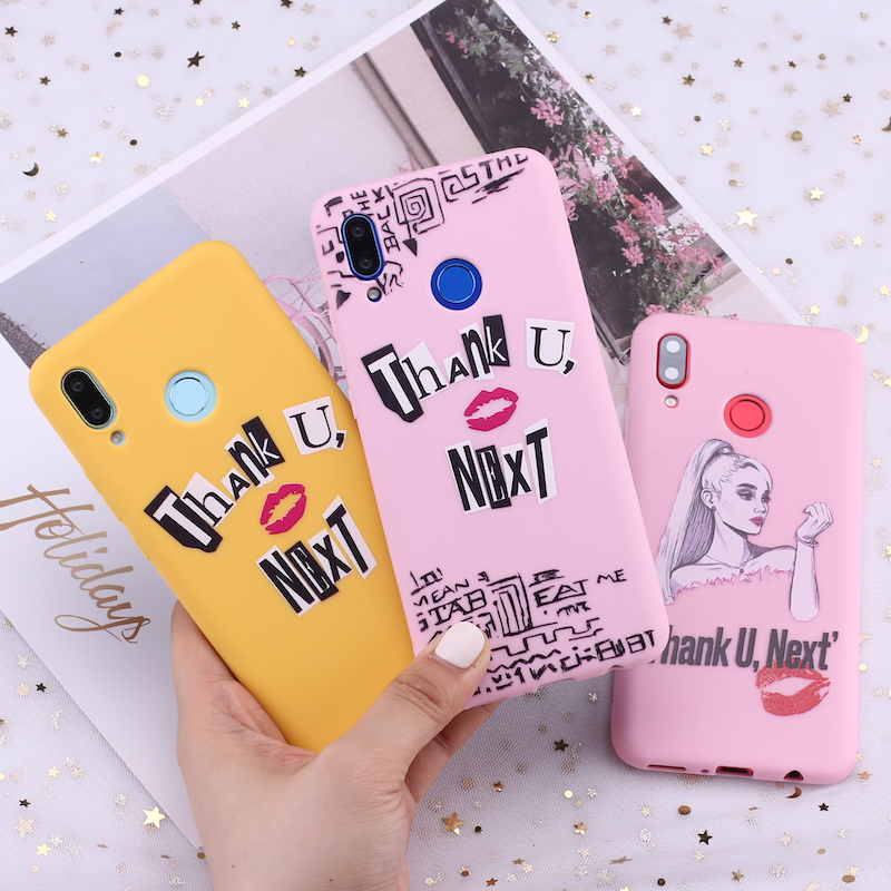 For <font><b>Samsung</b></font> S8 S9 S10 S10e S20 Plus Note 8 9 10 A7 A8 Ariana Grande Thank You Next Celebrity Candy Silicone Phone <font><b>Case</b></font> Fundas image