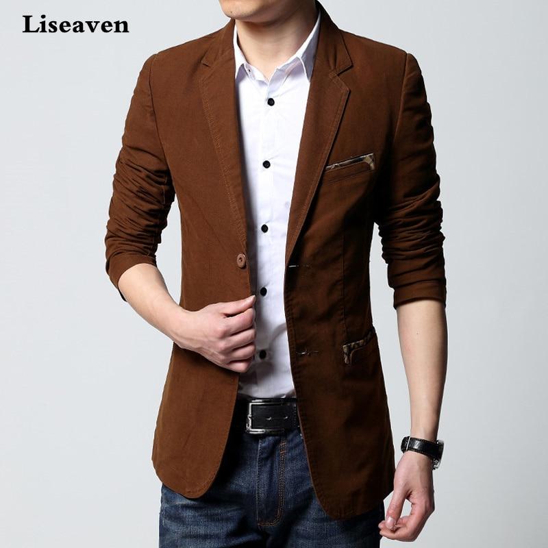 Liseaven Men Blazer New Fashion Coat Brand High Quality Jackets Slim Fit Men Suit Masculino Blazers Men