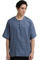 סיפור שנחאי הסיני המסורתית של גברים חולצה למעלה טי לאדם קונג פו חליפת טאנג סיבוב O בגדים סיניים