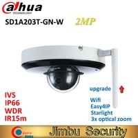 Dahua PTZ IP 2MP Wi Fi Камера SD1A203T GN W Starlight Поддержка Tripwire IVS face detection ИК 15 м IP66 WDR видеонаблюдения Камера