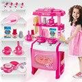 Nueva llegada de los niños de cocina de juguete kids toys buena calidad de plástico de alimentos de cocina multifuncional cocina de juguete para niños toys