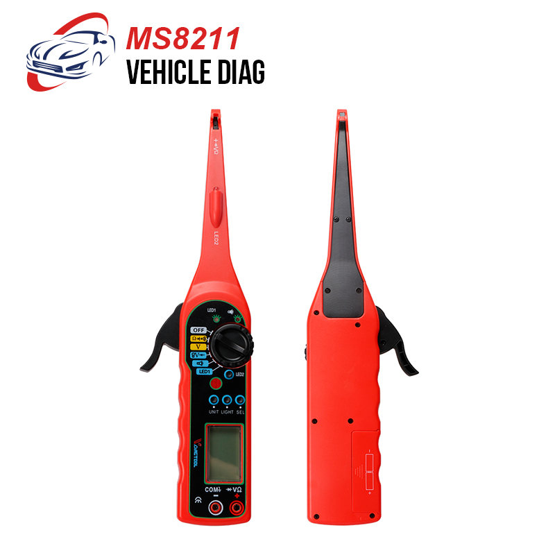 MS8211 Multimeter Circuit Tester Automotive Digital Multimeter, Pencil, Detector DMM AC DC Voltage Current Tester Pen with LED