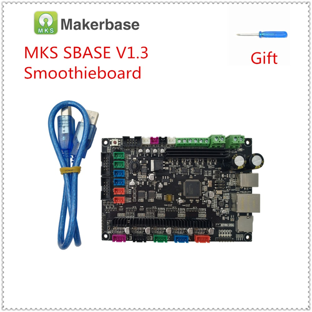 3D printer controller motherboard MKS SBASE V1.3 32-bit ARM Cortex for Smoothieware integrated Microcontroller open source 3d printer main control panel sbase v1 3 open source firmware 32 motherboard