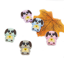 Chenkai 50PCS BPA Free Silicone Dog Teething Beads Baby Animal Gifts For Chewable Pacifier Teether Toy Accessories