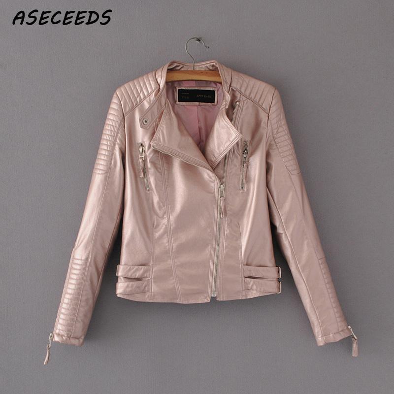 Faux   leather   jacket for women's autumn jacket short biker outerwear Moto famale moto jacket women coat outwear 2019