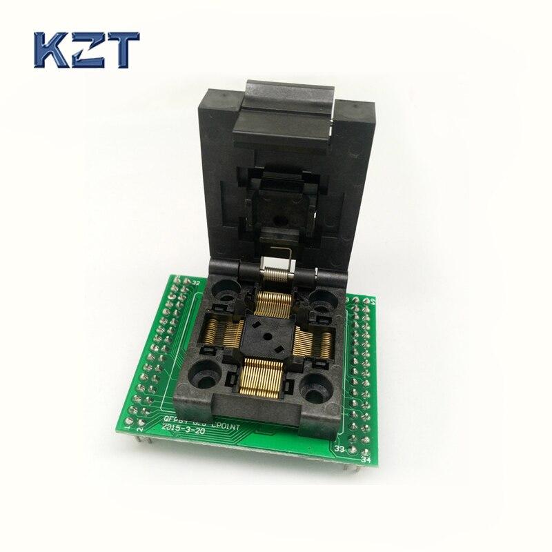 QFP64 TQFP64 LQFP64 to DIP64 QFP Programming Socket Pitch 0.5mm IC Body Size 10x10mm FPQ 64 0.5 06 Test Socket Adapter