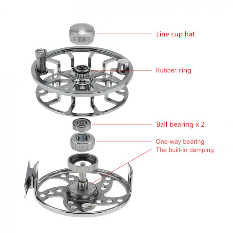Ultralight Fly Fishing Reel Max Drag 6KG 13LB Aluminum Alloy CNC Machine Cut 145g Large Arbor Casting Former Ice Fishing Reel in Fishing Reels from Sports Entertainment
