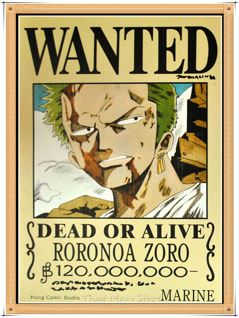 ONE PIECE WANTED Posters Luffy Zoro Sanji Nami Robin Home ...