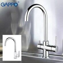 صنبور مطبخ من GAPPO صنابير مغسلة حنفية مطبخ مزودة بمصفاة مياه استدارة صنبور من الكروم صنابير خلاط مطبخ عتيق