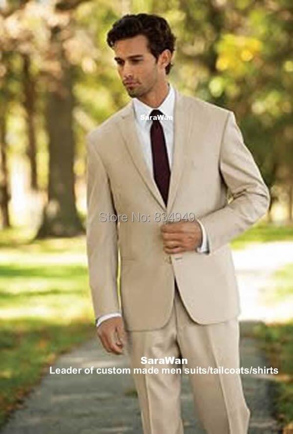 Beige Groom Suits Custom Made Beige Groom Tuxedo,Bespoke Suit 2 ...