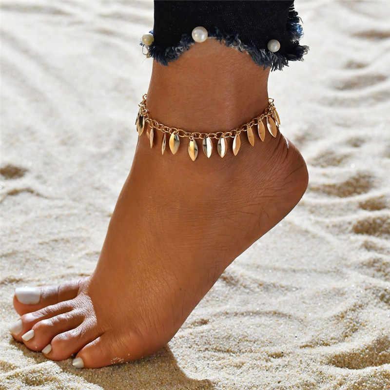 Modyle Bohemian Sequins ข้อเท้าชุดชายหาดเท้าข้อเท้าสร้อยข้อมือผู้หญิงเครื่องประดับฤดูร้อน Party ของขวัญ
