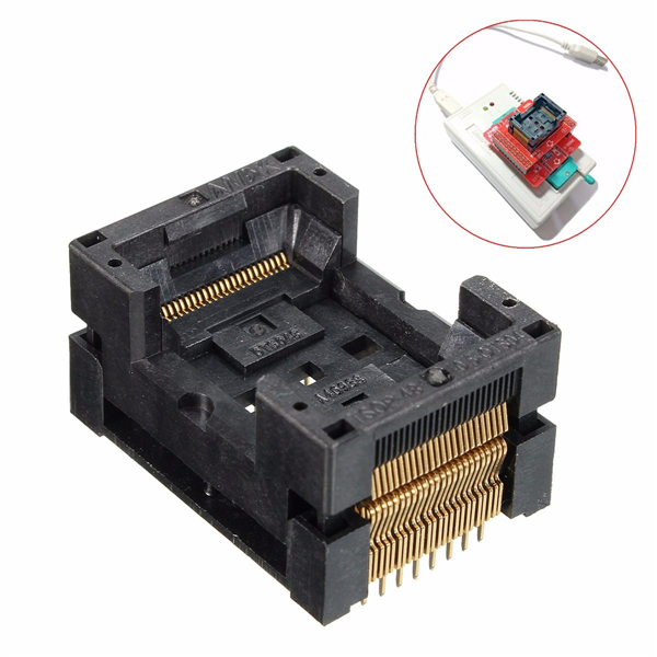 TSOP 48 IC354-0482-031P TSOP48 Socket Adapter 48 Pin 0.5 Pitch For Programmer IC FLASH Free Shipping free shipping 100% new original 5pcs lot mt29f64g08cbaaawp a mt 29f64g08cbaaa wp a ic flash 64gbit tsop 48