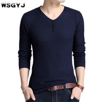 Sweater Pullover Men 2018 Male Brand Casual Slim Sweaters Men Fashion Solid Color High Quality Hedging
