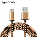 Metal Plug Nylon Braided USB 3.1 Type-C Data Sync Charger Cable for Xiaomi 5 5s Huawei P9 Plus Mate 9 Honor 8 Oneplus 3 3T LG G5