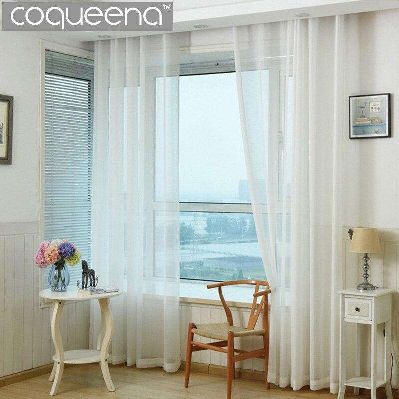 cortinas de la cocina blanca puerta cortinas sheer voile cortinas para la sala de estar dormitorio