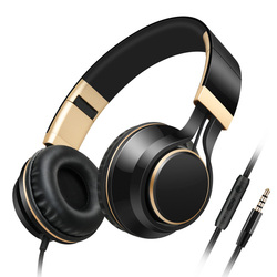 Sound Intone I58 Wired HIFI Headphones With Microphone On-Ear Big Gaming Headsets Stereo Bass Earphones for PC Computer Iphone