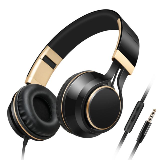 Som entoar i58 dobrável fones de ouvido pc com microfone e controle de volume fone de ouvido baixo fones de ouvido estéreo para iphone 6/6 s xiaomi