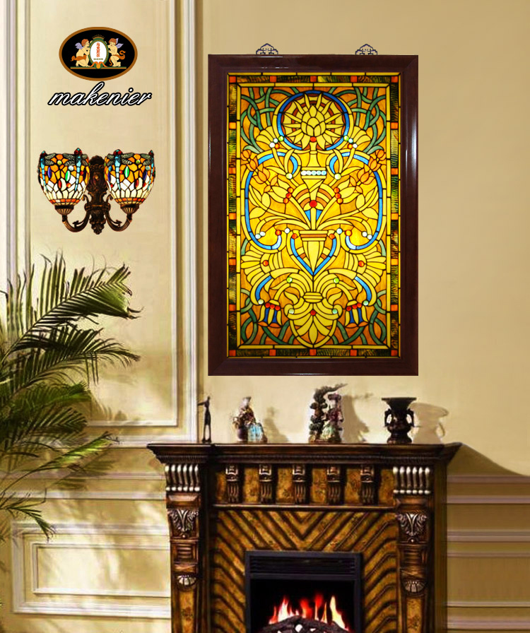Custom cut off the church entrance doors and screens colored art ...