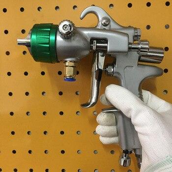 SAT1189 professional pneumatic airbrush chrome paint gun high pressure double nozzle spray gun air dual head car paint gun