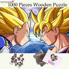 MOMEMO Dragon Ball Wooden 1000 Pieces Puzzle Jigsaw Goku Vegeta Battle Games Toys for Adults Kids Exercise Thinking