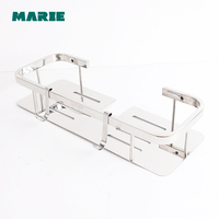 Bathroom Shelf Shower Storage Rack Holder Shampoo Bath Towel Tray Home Bathroom Shelves Single Tier Shower Head Holder