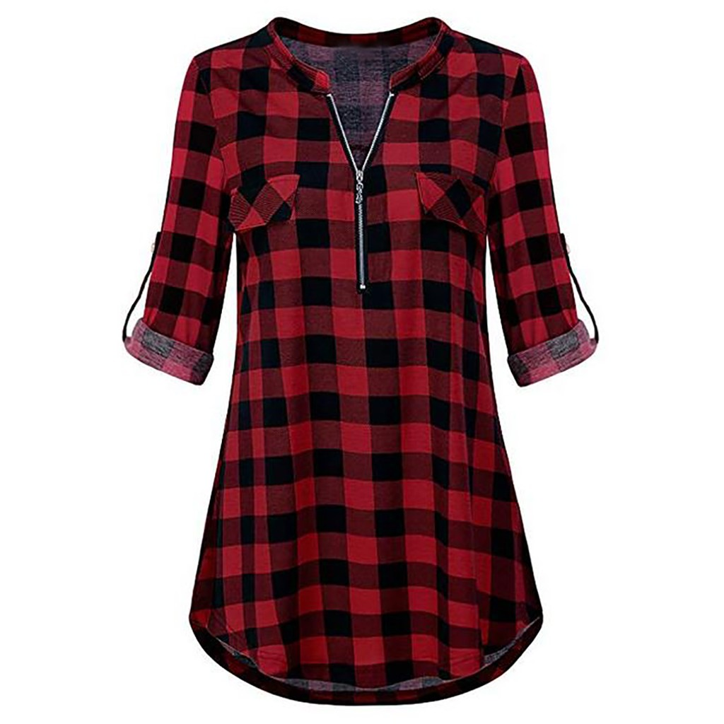 Blouses & Shirts 2019 Autumn Cotton Women Blouses Vintage Sexy Hollow Out Bandage Plaid Pocket Casual Long Sleeve 5xl Big Plus Sizes Shirts