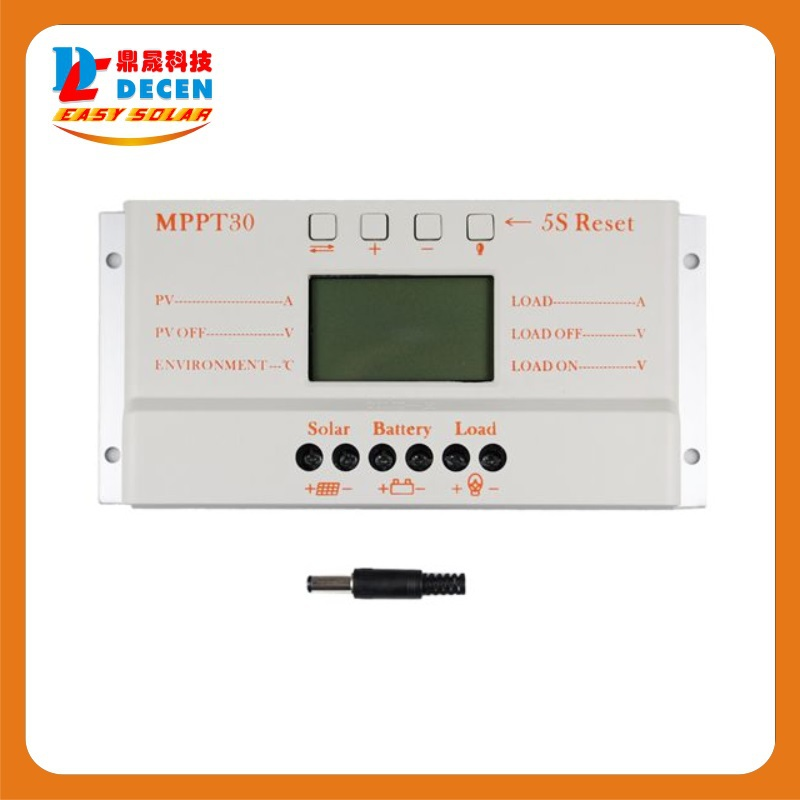 MPPT30  30A  solar charge controller 12V 24V auto work with lcd display wholesale