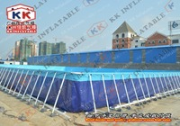 Moveable Steel Frame Adult Swimming Pool Toys With Free Filter Pump