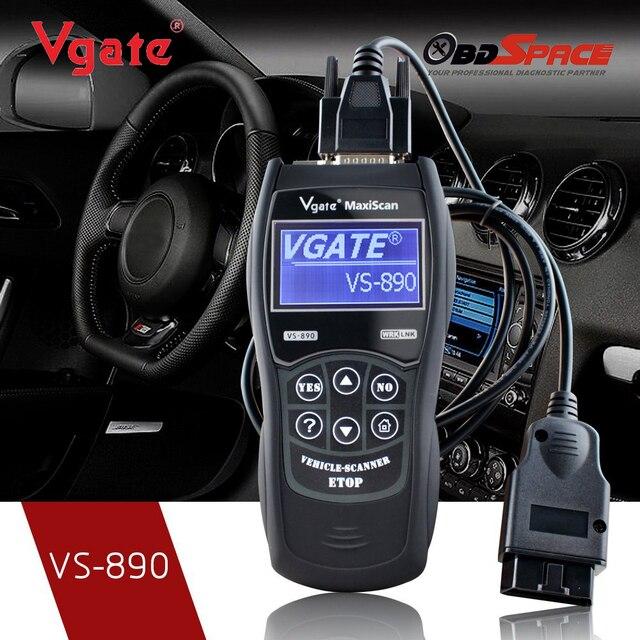 10pcs/lot 2017 Vgate MaxiScan VS890 Universal Diagnostic Tool Multi-language Auto Scantool MaxiScan VS 890 OBD2 Scanner DHL Free