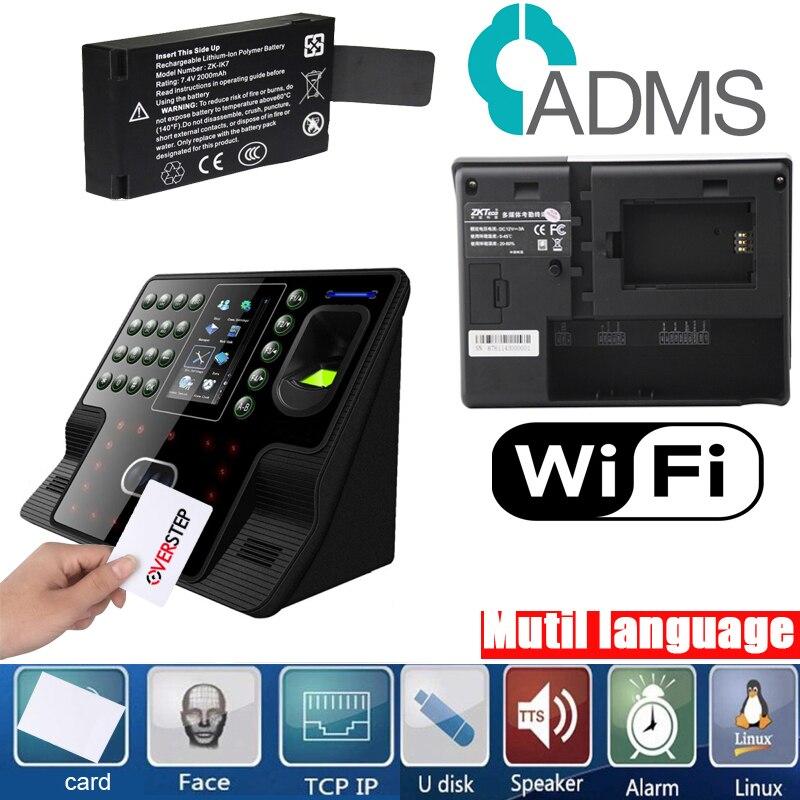Tcp/ip USB visage et empreinte digitale temps de présence horloge avec MF IC lecteur de carte zkteco Iface102 Facia temps de présence iface102