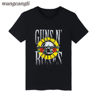 GUNS N ROSES Black Punk Summer Cotton T Shirt Men Short Sleeve TShirt And Rock Band
