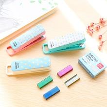 Grapadora deli скобы papelaria степлер школьные принадлежности канцелярские ручной набор цвет