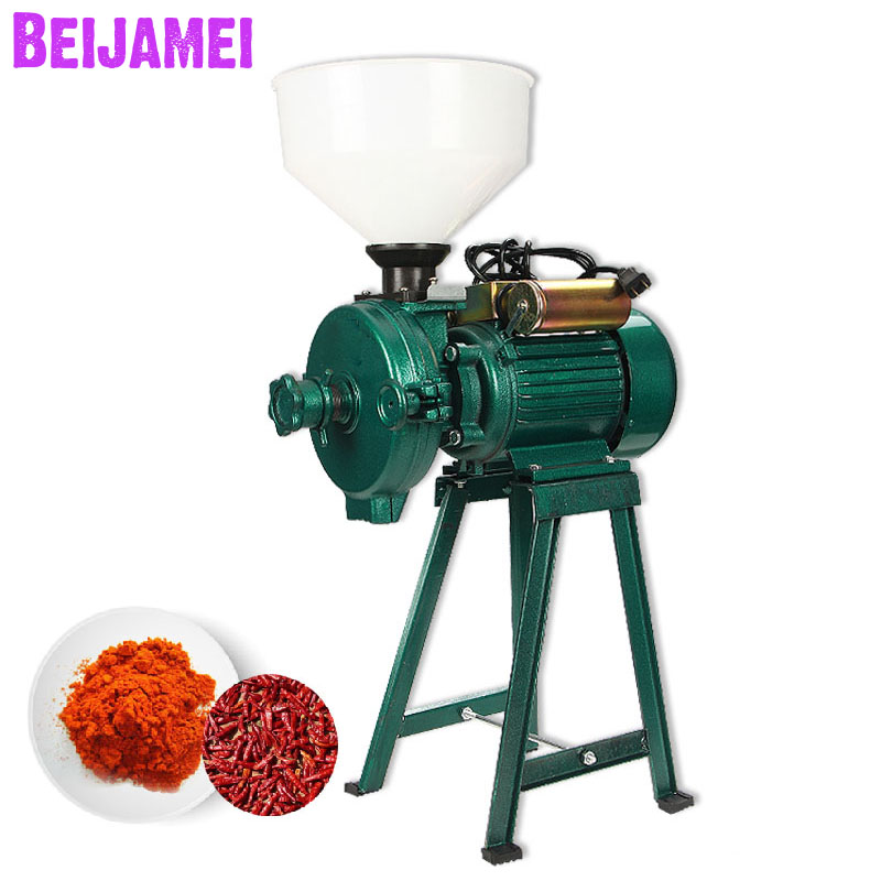Beijamei Factory Wet Dry Grain Grinder Machine Commercial Electric Ultra-fine Rice, Corn, Wheat, Feed Grinding Mill