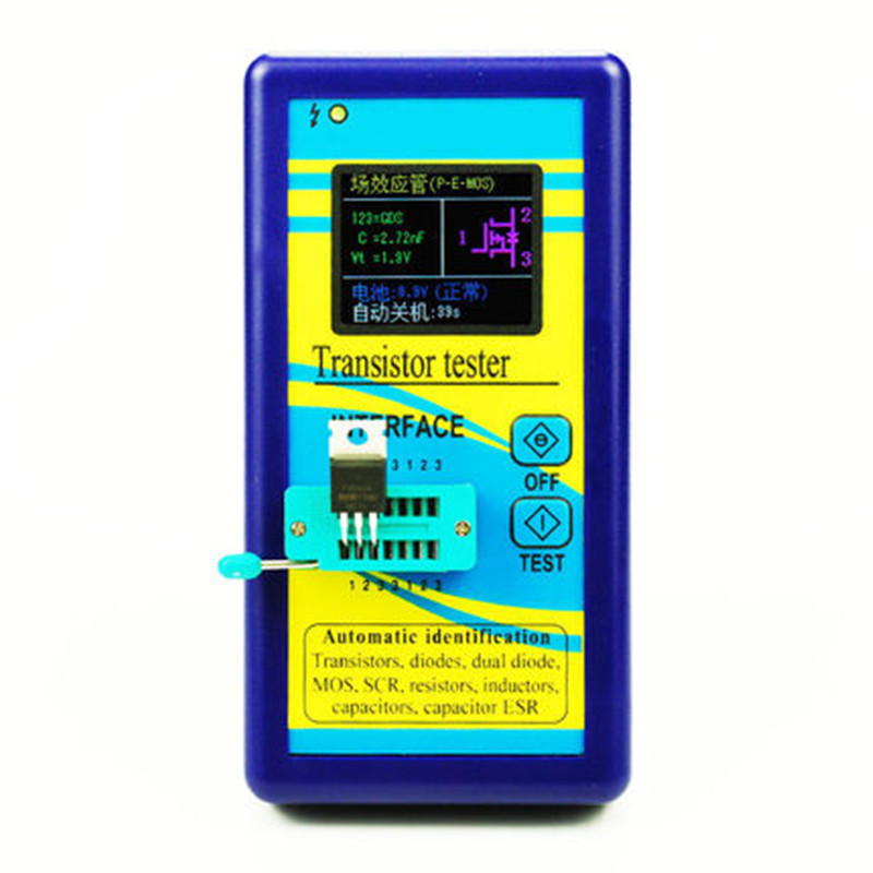 M328 transistor tester Resistance Inductance Capacitance ESR meter freeshipping 2014 newest m328 transistor tester capacitor esr inductance resistor meter not include the battery