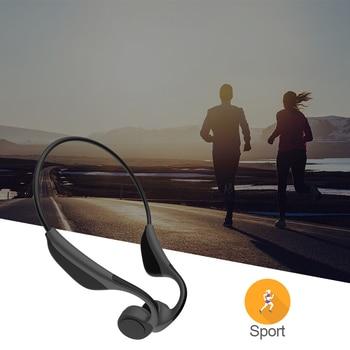 S.Wear V9 Bone Conduction Headphones Wireless Bluetooth 5.0 Sport Handsfree Mic  Bone Conduction Earphone  Music